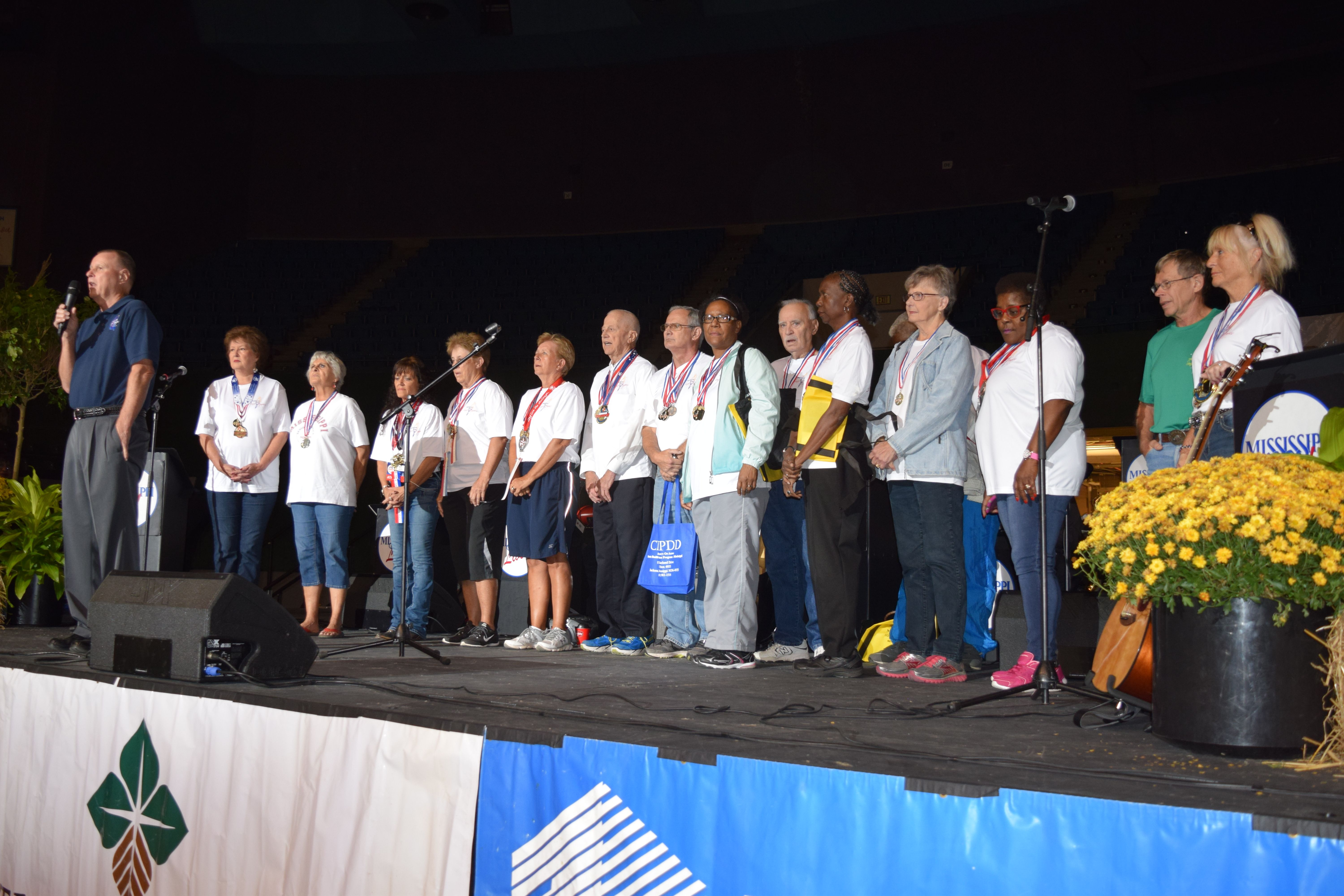 Mississippi Senior Olympians recognized at MS State Fair Senior Day