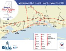 Open news item - 2018 Mississippi Senior Olympics events map